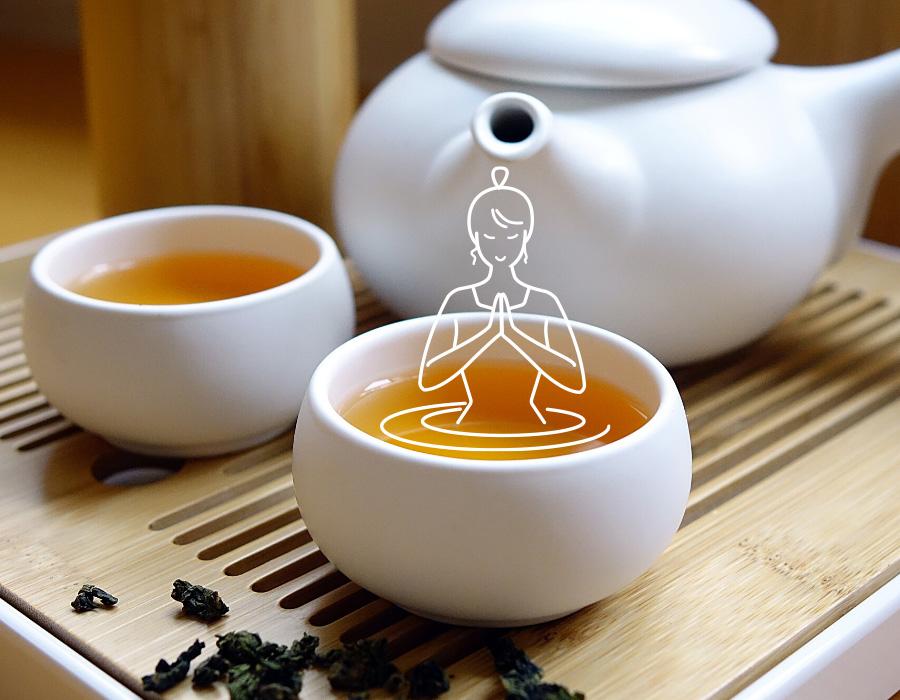 DiviniThé : visuel atelier de dégustatin de thés japonais avec un kyusu et deux tasses