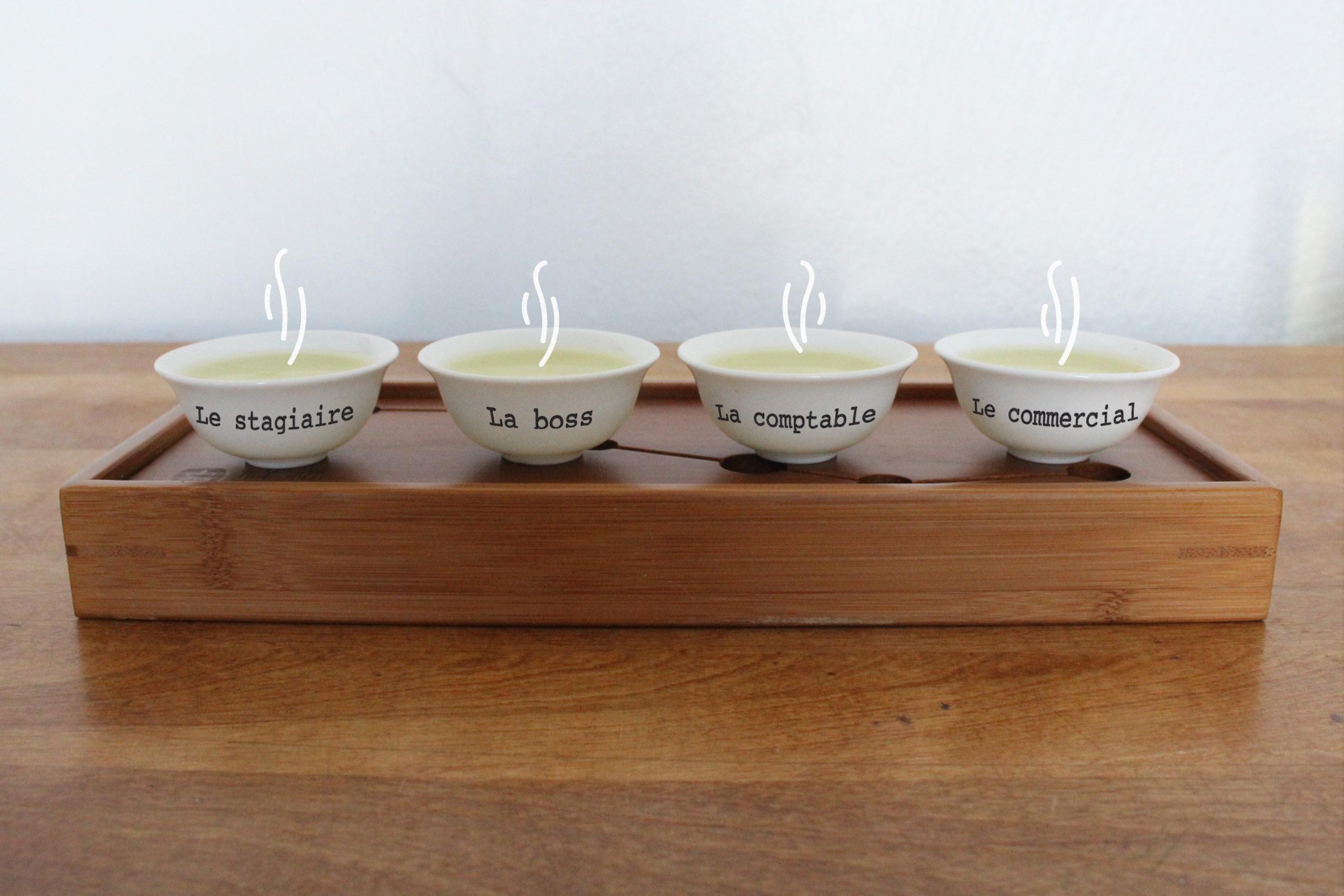 DiviniThé tasses de thé du team building autour du thé