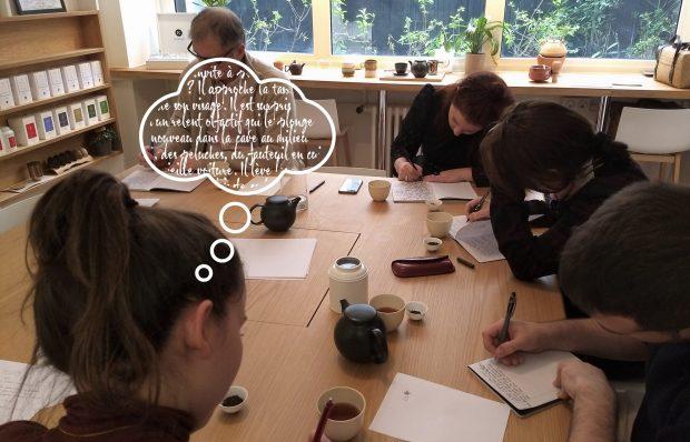 DiviniThé vous propose un atelier thé et écriture pour vous aider à franchir le pas de l'écriture grâce à une apporche sensiorielle