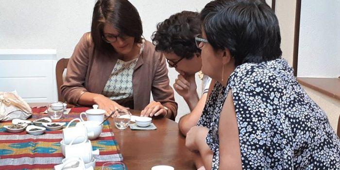 Atelier thé Divinithé : échange entre les participants lors d'une atelier Team buildi